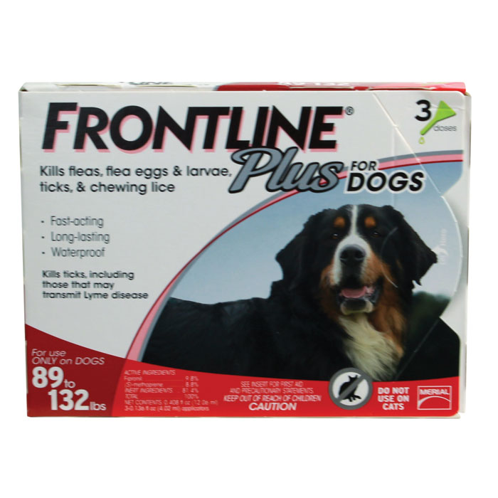 Frontline Plus for Dogs - X-Large - 89 to 132 lb. - 3 pk