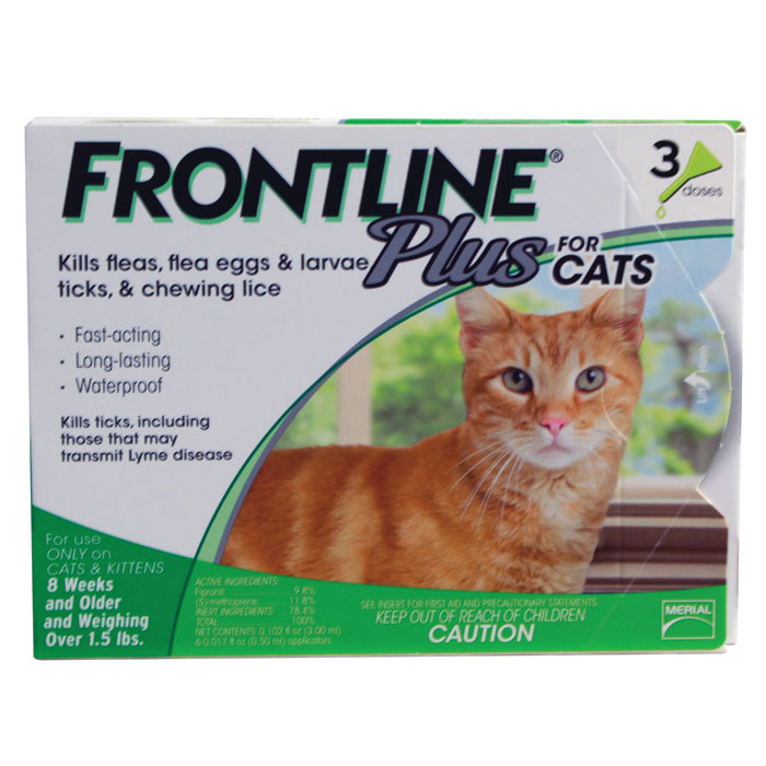 Frontline Plus for Cats - One Size - 3 pk