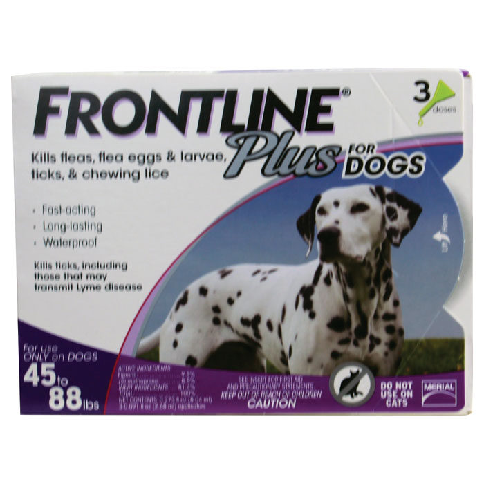Frontline Plus for Dogs - Large - 45 to 88 lb. - 3 pk