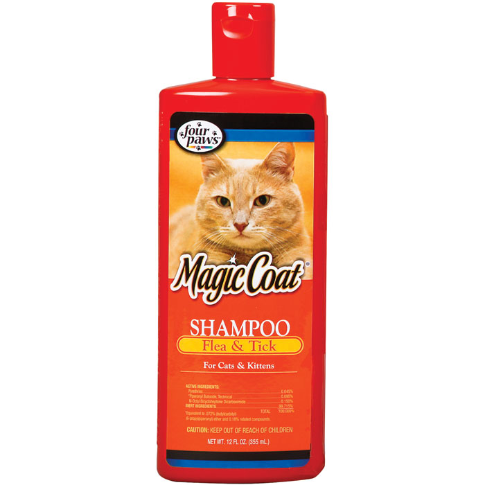 Magic Coat Flea and Tick Shampoo for Cats - 12 oz.