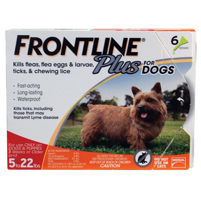 Frontline Plus for Dogs - Small - Up to 22 lb. - 6 pk
