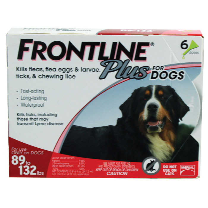 Frontline Plus for Dogs - X-Large - 89 to 132 lb. - 6 pk