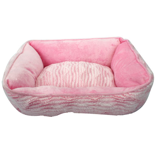 Catit Reversible Cuddle Bed - Pink - 17 in. x 14 in.