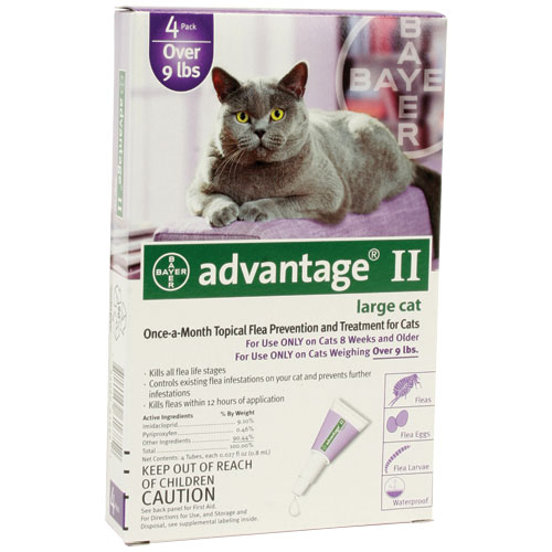 Advantage II for Cats and Kittens - Purple - 10 to 18 lb. - 4 pk.
