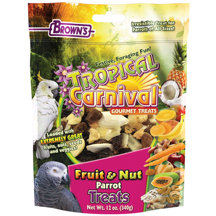 Tropical Carnival Fruit & Nut Parrot Treat - 12 oz.