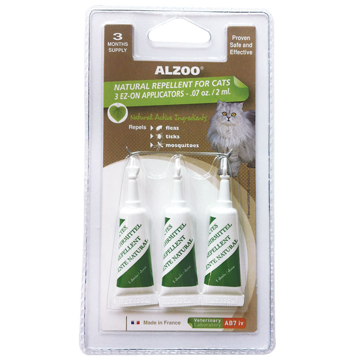 Alzoo Flea Repellent Treatment for Cats - 3 pk.