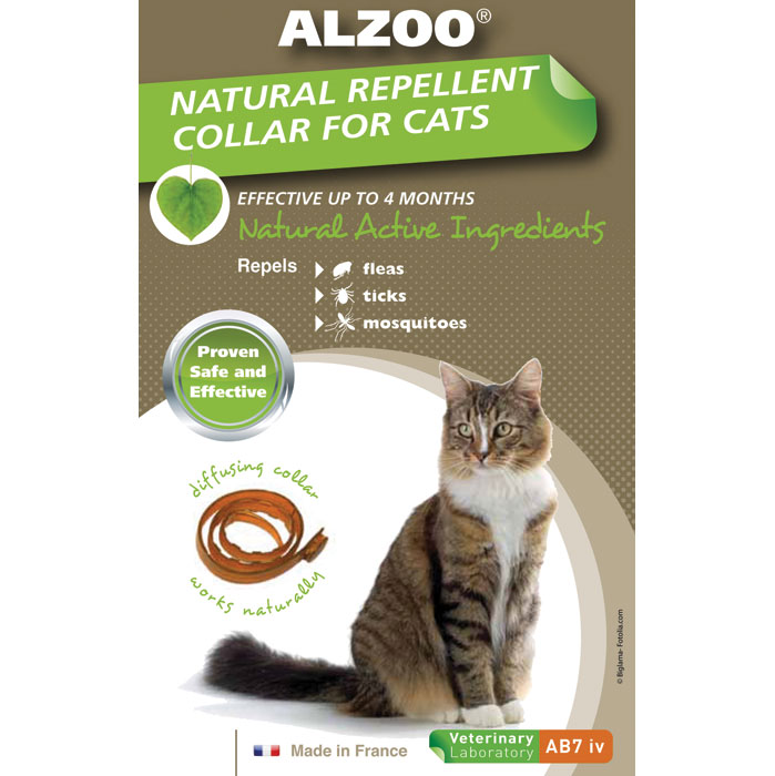 Alzoo Flea Repellent Collar for Cats