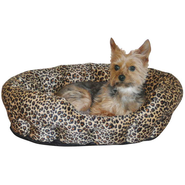 Self Warming Nuzzle Nest - Brown Leopard - 19 in.
