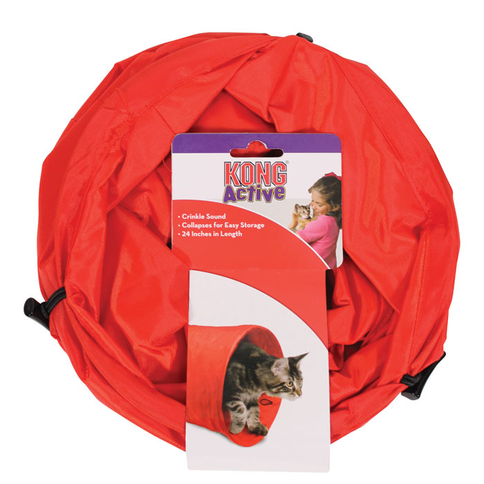 KONG Active Cat Tunnel - Red - 24 in.