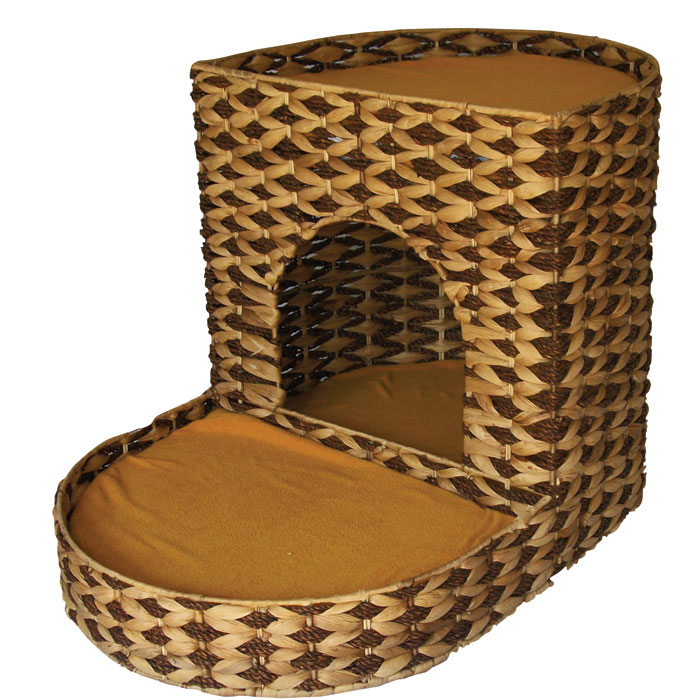 Water Hyacinth Two Tier Cat Bed