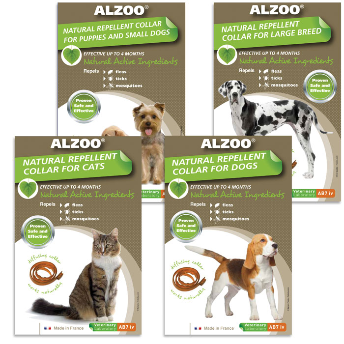 Alzoo Flea Repellent Collars for Dogs