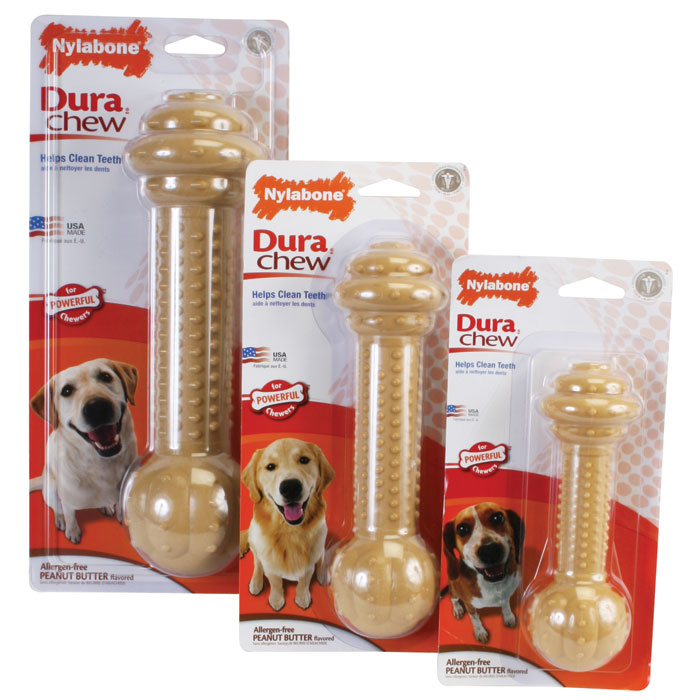 Dura Chew Barbell Treat Toys